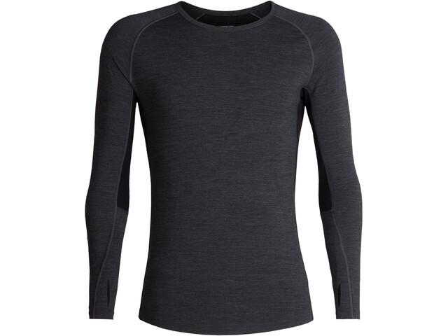 Icebreaker 200 Zone T-shirt manches longues à col ras-du-cou Homme, jet heather/black